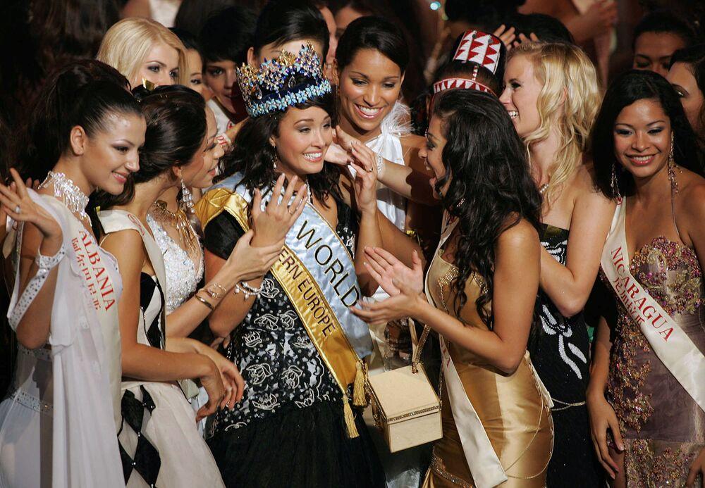 Miss World - 2005 Unnur Birna Vilhjalmsdottir z Islandii