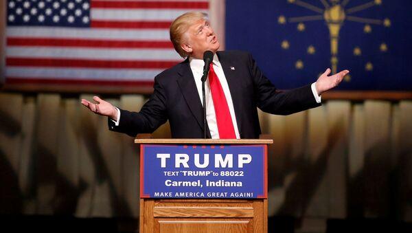 Kandydat republikanów na prezydenta USA Donald Trump - Sputnik Polska