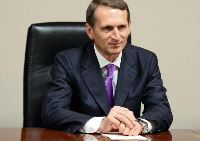 Przewodniczący Dumy Państwowej Siergiej Naryszkin