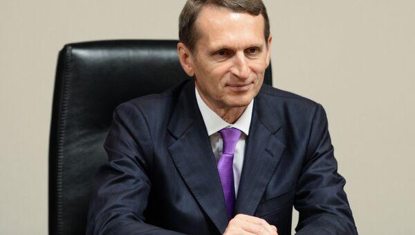 Przewodniczący Dumy Państwowej Siergiej Naryszkin - Sputnik Polska
