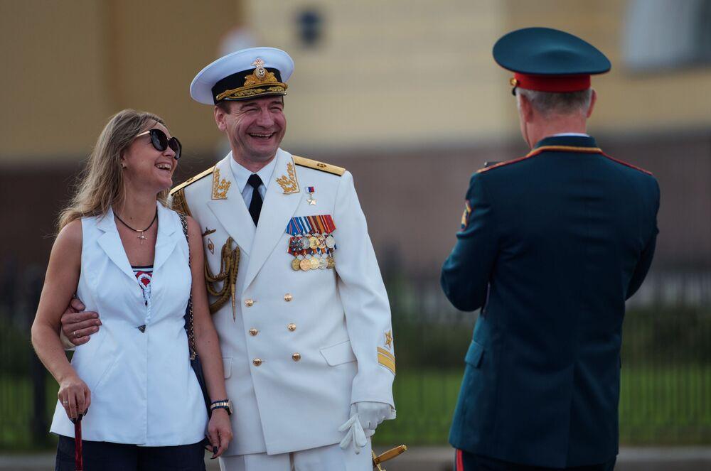 Obchody Dnia Marynarki Wojennej w Petersburgu