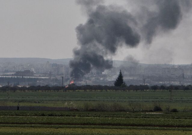 Dym nad syryjskim Idlibem