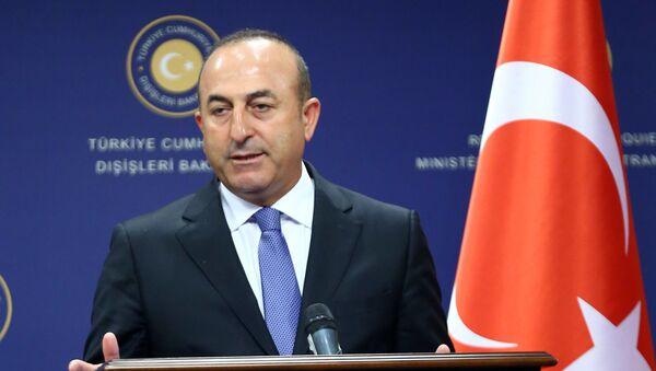 Minister spraw zagranicznych Turcji Mevlüt Çavuşoğlu  - Sputnik Polska
