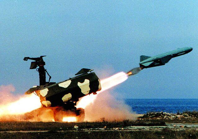 Start rakiety skrzydlatej w czasie ćwiczeń Floty Czarnomorskiej