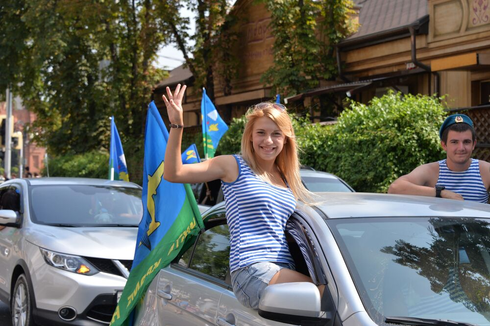 Świętowanie Dnia Wojsk Powietrzno-Desantowych  w Krasnodarze.