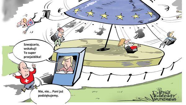 Szwajcaria oficjalnie powiadomiła Unie o cofnięciu wniosku o wstąpienie - Sputnik Polska