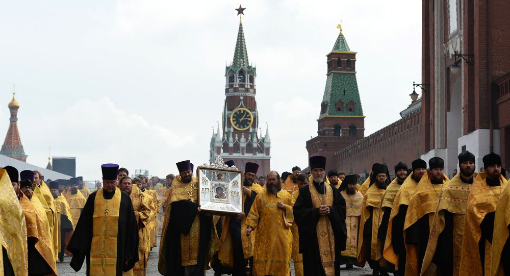Procesja w Moskwie.