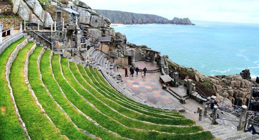 Wielka Brytania. Kornwalia Skalny Amfiteatr Minack.