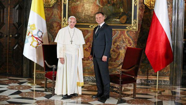 Papież Franciszek i prezydent Andrzej Duda na Wawelu - Sputnik Polska
