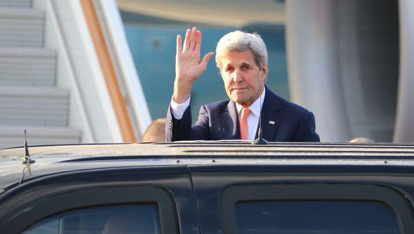 Amerykański sekretarz stanu John Kerry podczas wizyty w Moskwie - Sputnik Polska