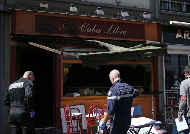 Pożar w barze Cuba Libre we francuskim Rouen