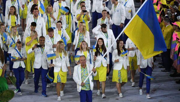 Ukraińska reprezentacji w trakcie ceremonii otwarcia XXXI Letnich Igrzysk Olimpijskich w Rio - Sputnik Polska