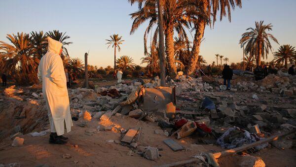Obóz Daesh w Libii po amerykańskim nalocie - Sputnik Polska