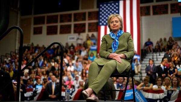 Kandydatka na prezydenta USA z ramienia Partii Demokratycznej, Hilary Clinton, podczas mitingu w Colorado, 03.08.2016. - Sputnik Polska