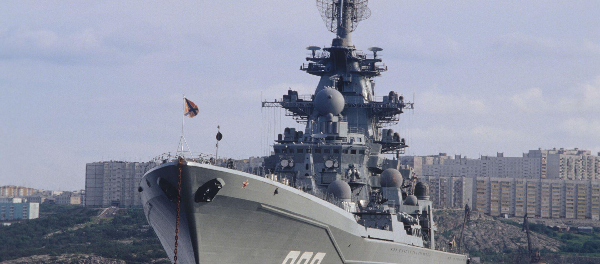 """Krążownik atomowy """"Admirał Nachimow"""" projektu 1144 Orłan  - Sputnik Polska, 1920, 24.04.2021"""