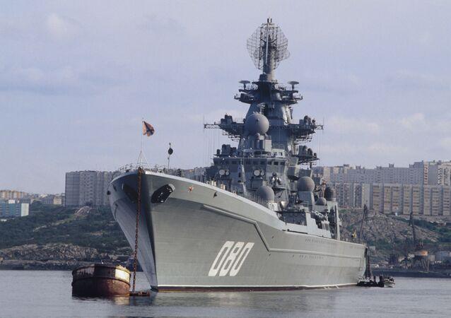 """Krążownik atomowy """"Admirał Nachimow"""" projektu 1144 Orłan"""