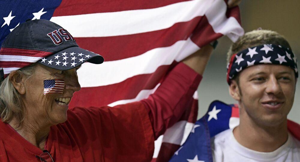 Amerykańscy kibice podczas Olimpiady w Rio