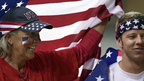 Amerykańscy kibice podczas Olimpiady w Rio - Sputnik Polska