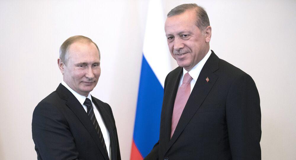 Prezydent Rosji Władimir Putin i prezydent Turcji Recep Erdogan
