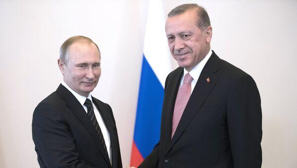Prezydent Rosji Władimir Putin i prezydent Turcji Recep Erdogan - Sputnik Polska