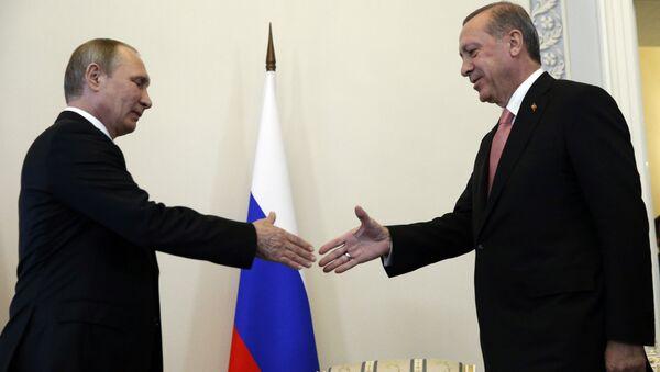 Spotkanie prezydentów Rosji i Turcji w Petersburgu, 9 sierpnia 2016 - Sputnik Polska