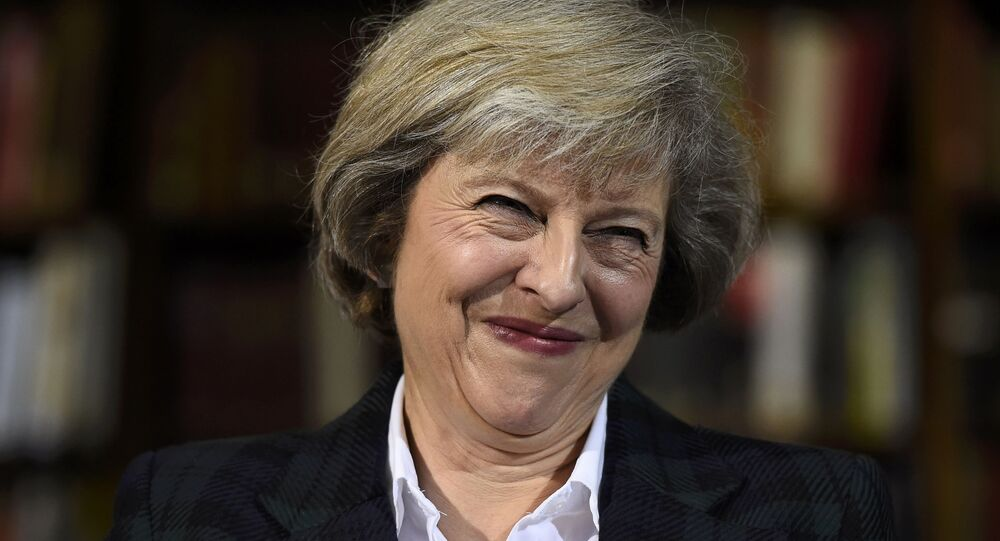 Britain's Home Secretary Theresa May attends a press conference in London, Britain, June 30, 2016.