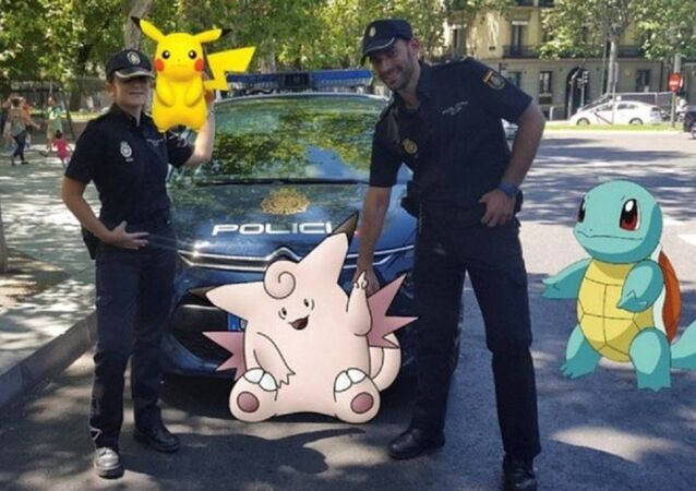 Pokemony i policja Hiszpanii