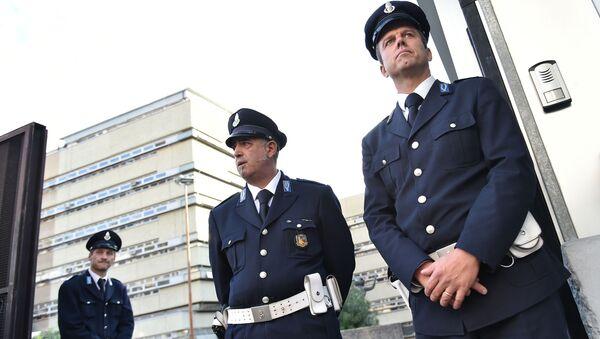 Ochrona sądu w Rzymie podczas procesu szefów mafii - Sputnik Polska