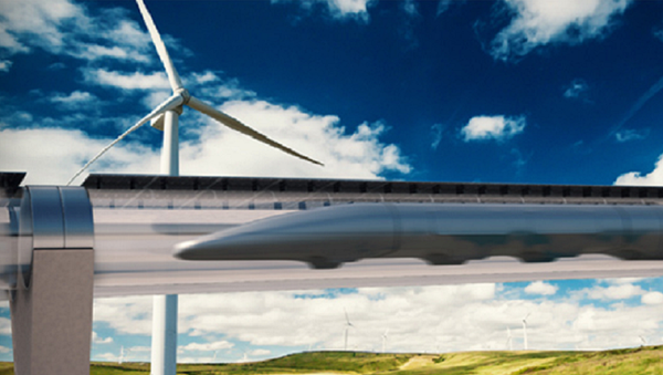System Transportu Hyperloop - Sputnik Polska