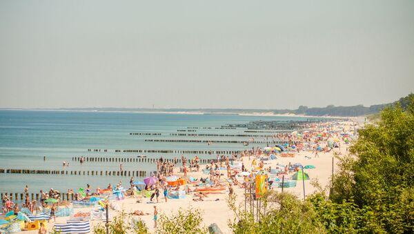 Plaża w Mielnie - Sputnik Polska