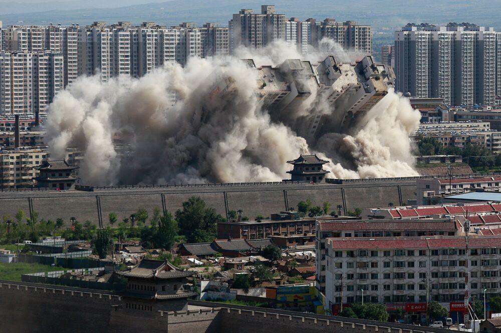 Burzenie budynków w Datun, Chiny