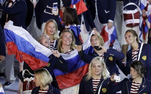 Reprezentacja Rosji na otwarciu Igrzysk Olimpijskich w Rio de Janeiro - Sputnik Polska