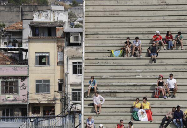 Widzowie podczas etapu eliminacyjnego w łucznictwie na Olimpiadzie 2016 w Rio de Janerio - Sputnik Polska