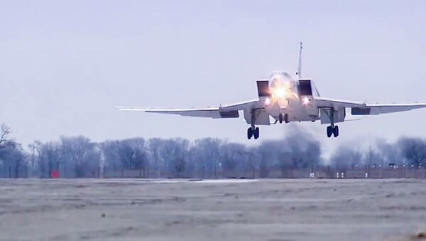 Rosyjski bombowiec dalekiego zasięgu Tu-22 M3. - Sputnik Polska