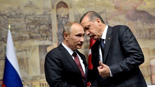 Prezydent Turcji Recep Tayyip Erdogan i prezydent Rosji Władimir Putin - Sputnik Polska