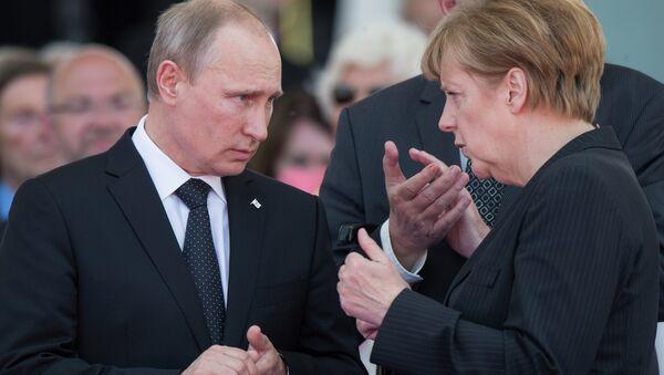 Putin i Merkel - Sputnik Polska