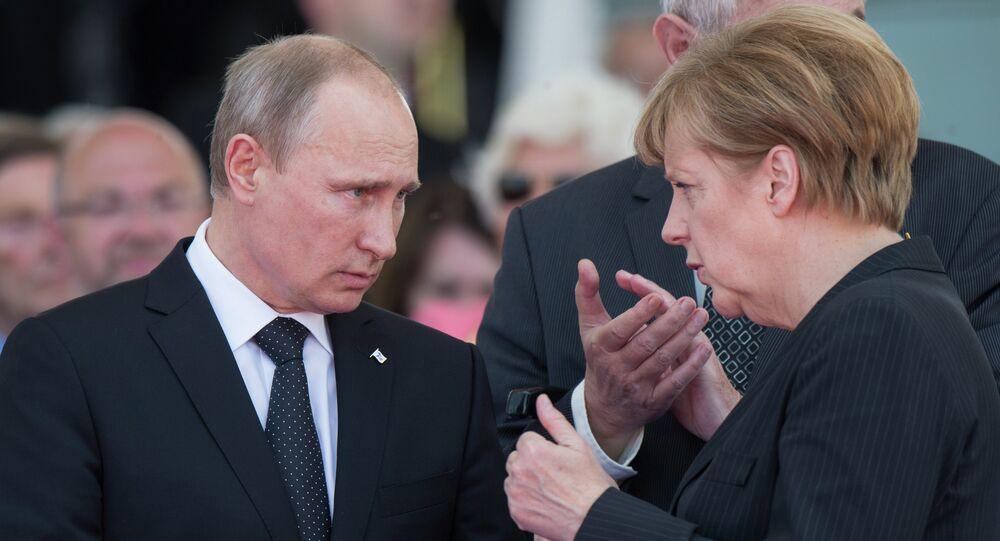 Putin i Merkel