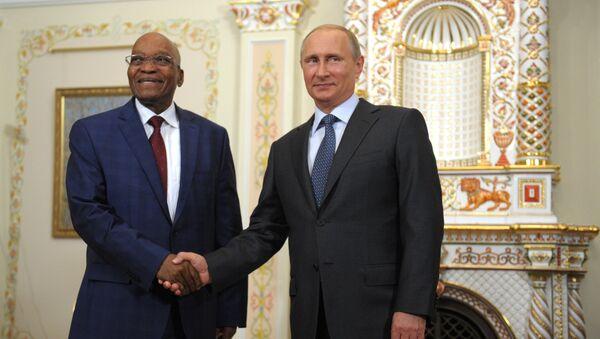 Władimir Putin i Jacob Zuma - Sputnik Polska