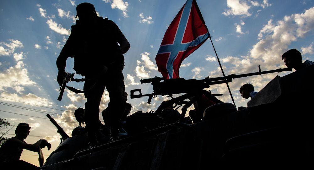 Żołnierze Donbasu we wschodniej Ukrainie