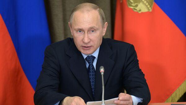 Prezydent Rosji Władimir Putin przeprowadził naradę nt. rozwoju sił zbrojnych - Sputnik Polska