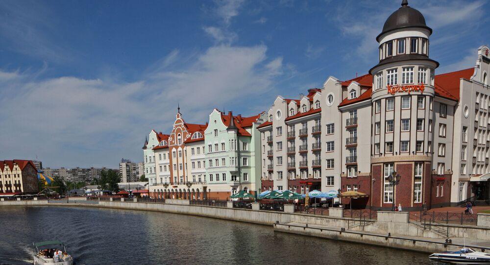 Widok na dzielnicę Wieś Rybacka w Kaliningradzie, Rosja
