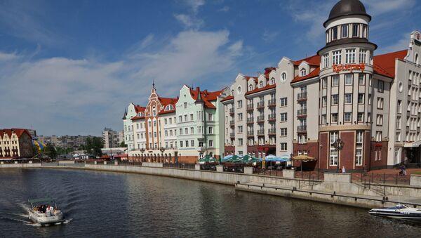 Widok na dzielnicę Wieś Rybacka w Kaliningradzie, Rosja - Sputnik Polska