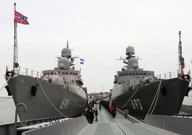 """Okręty rakietowe """"Dagestan"""" i """"Tatarstan"""""""