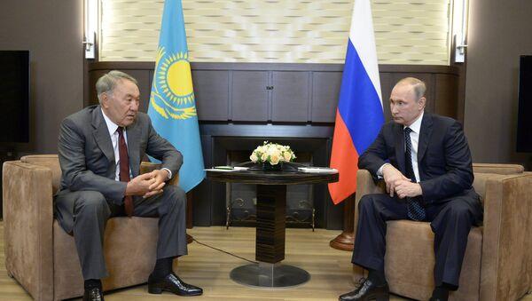 Prezydent Rosji Władimir Putin spotkał się z Prezydentem Kazachstanu Nursułtanem Nazarbajewym. - Sputnik Polska