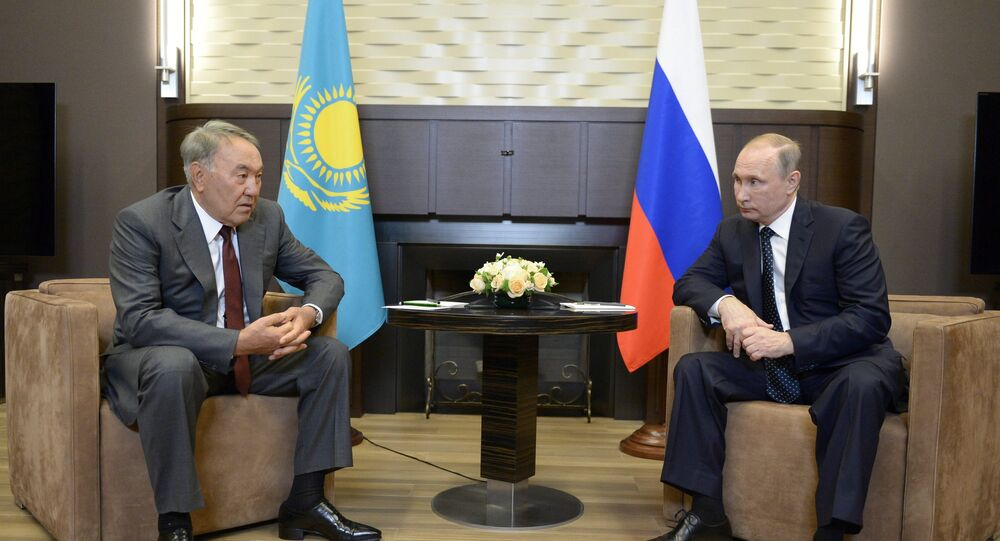 Prezydent Rosji Władimir Putin spotkał się z Prezydentem Kazachstanu Nursułtanem Nazarbajewym.