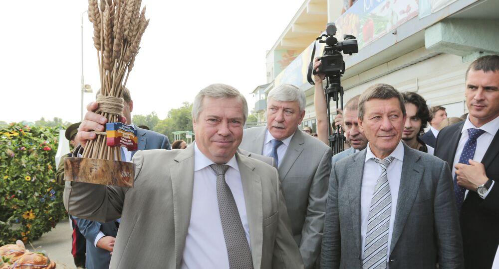 Gubernator obwodu rostowskiego Wasilij Gołubiew