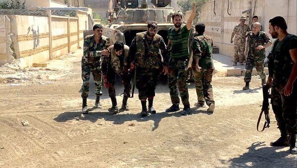 Wśród żołnierzy syryjskiej armii są ranni. - Sputnik Polska