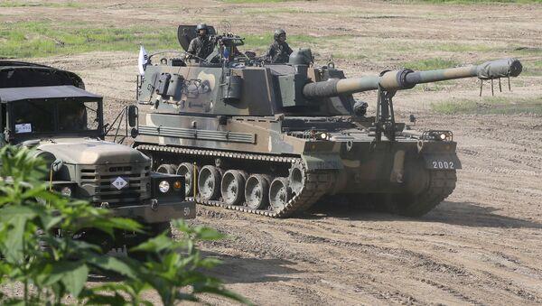 Działo samobieżne K-9 południowokoreańskiej armii - Sputnik Polska