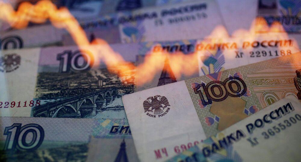 Związek między wartością rubla i ropy