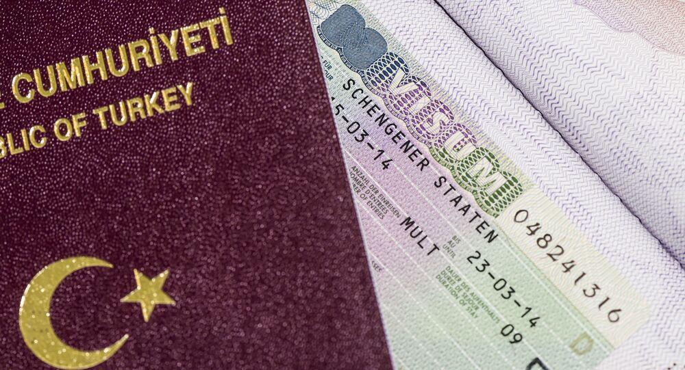 Turecki paszport z wizą Schengen